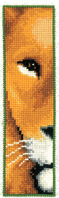 Lion Face Bookmark Cross Stitch Kit