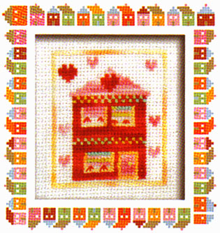 Little Red House Cross Stitch Kit