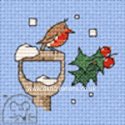Little Winter Robin Cross Stitch Kit