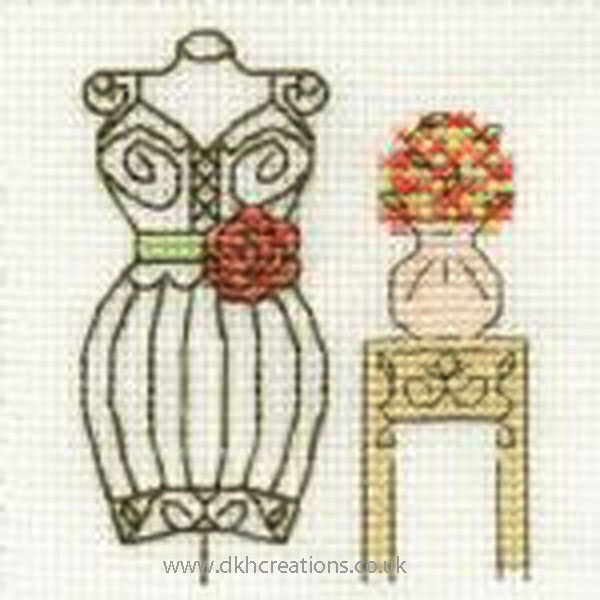 Mannequin Mini Cross Stitch Kit