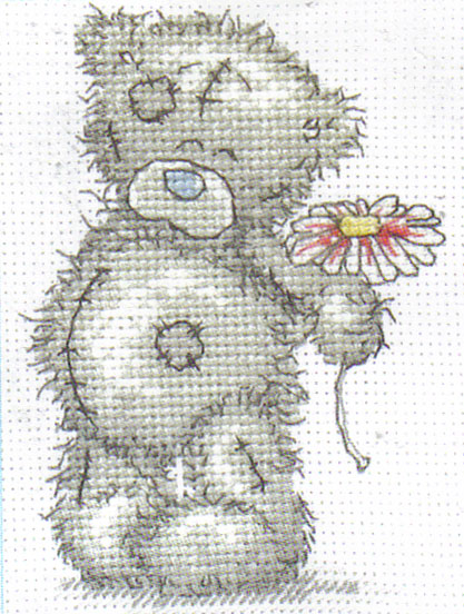 Me To You Tatty Teddy A Flower For You Cross Stitch Kit