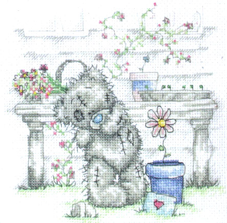 Me To You Tatty Teddy Flower Pot Cross Stitch Kit