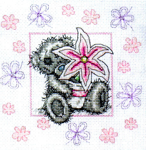 Me To You Tatty Teddy Lily  Cross Stitch Kit
