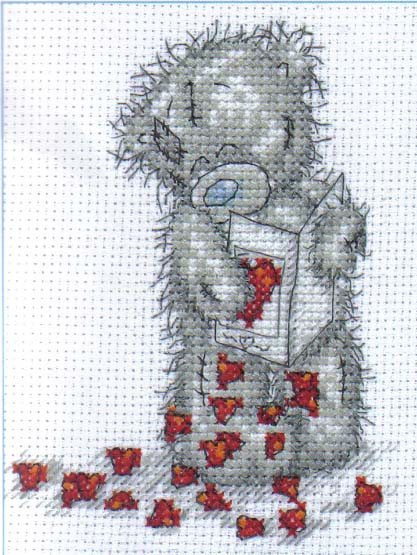 Me To You Tatty Teddy Little Hearts  Cross Stitch Kit