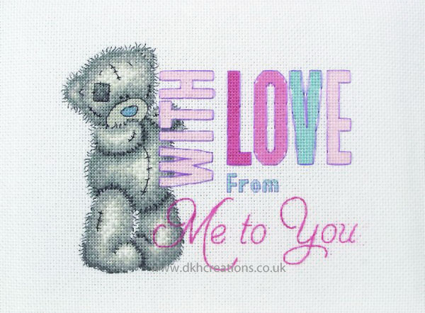 Me To You Tatty Teddy With Love Cross Stitch Kit