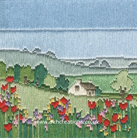 Meadow Silken Long Stitch Kit