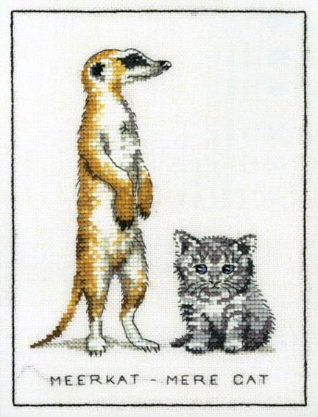 Meerkat Mere-Cat Cross Stitch Kit