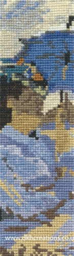 Monet The Beach At Trouville Bookmark Cross Stitch Kit