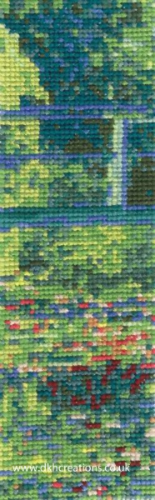 Monet The Water-Lilly Pond Bookmark Cross Stitch Kit
