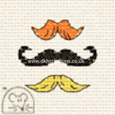 Moustaches Tiddlers Cross Stitch Kit