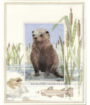Otter Cross Stitch Kit