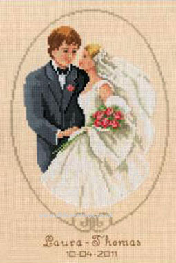 Our Day Wedding Sampler Cross Stitch Kit