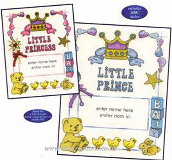 Our Little Prince Or Princess Sampler  Cross Stitch Kit