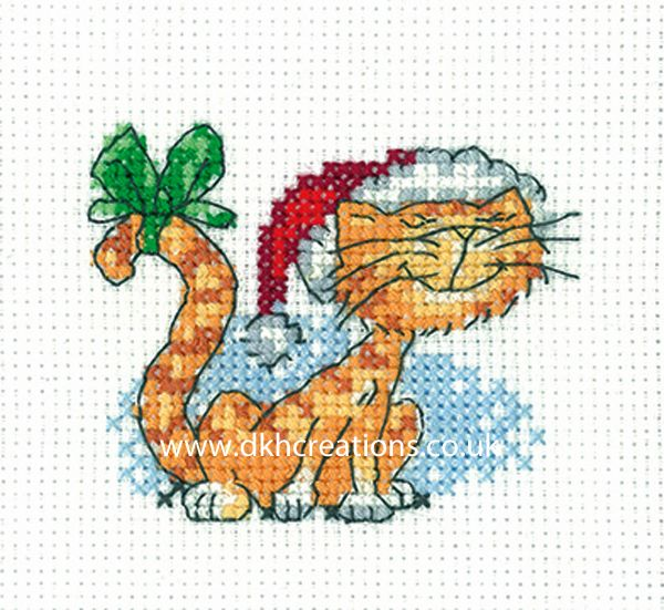 Peter Underhill Cats Rule Christmas Tigger Greeting Card Cross Stitch Kit