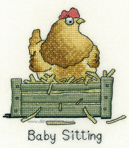 Peters Farm Baby Sitting Cross Stitch Kit