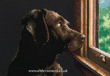 Pondering Pup  Dog Cross Stitch Kit