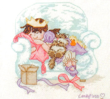 Popcorn Bear Time For A Snooze Cross Stitch Kit
