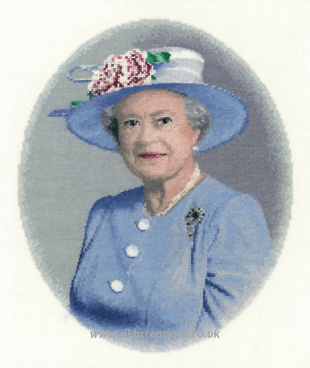 Queen Elizabeth II Cross Stitch Kit