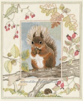 Red Squirrel Cross Stitch Kit