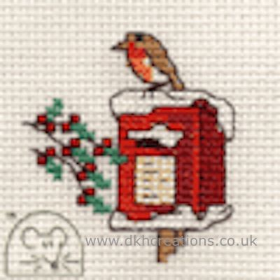 Robin On Postbox Cross Stitch Kit