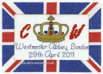 Royal Wedding Flag Cross Stitch Kit