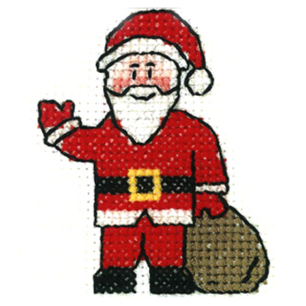 Santa Mini Cross Stitch Kit