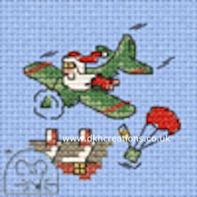 Santa's Airdrop Cross Stitch Kit