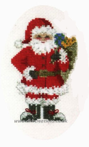 Santa's Sack Christmas Card Cross Stitch Kit