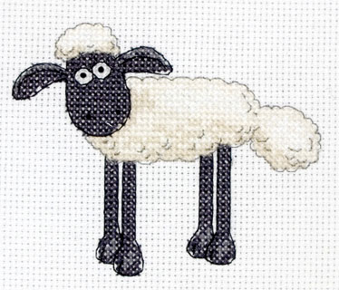 Shaun The Sheep Mini Cross Stitch Kit