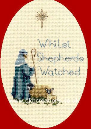 Shepherd  Christmas Card Cross Stitch Kit