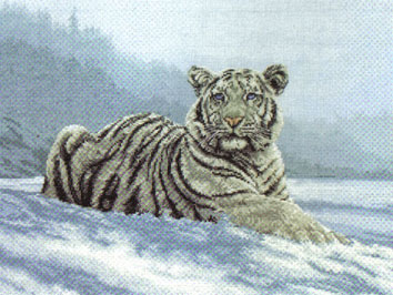 Siberian Tiger Cross Stitch Kit