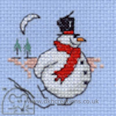 Skating Snowman Cross Stitch Kit