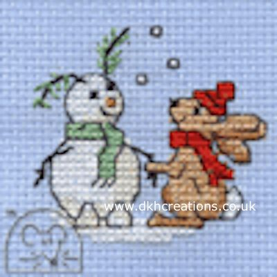 Snowbunny Cross Stitch Kit
