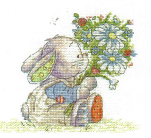 Somebunny To Love Spring Bouquet Cross Stitch Kit