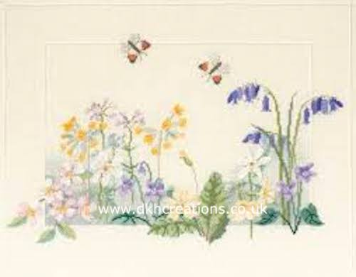 Spring Wild Flowers Cross Stitch Kit
