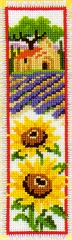 Sunflowers and Lavender Bookmark Cross Stitch Kit