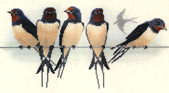 Swallows Cross Stitch Kit