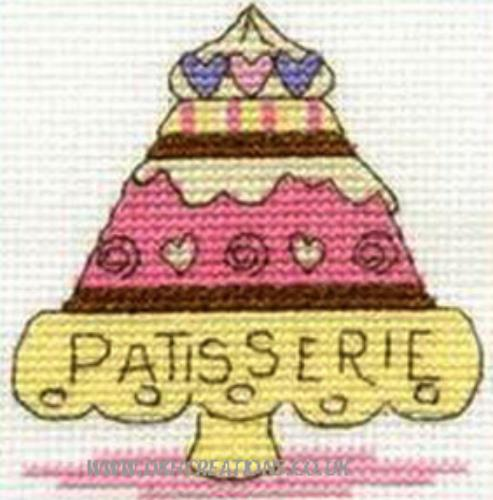 Sweet Temptations Patisserie Mini Cross Stitch Kit