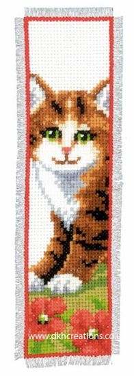 Tabby Kitten Bookmark Cross Stitch Kit