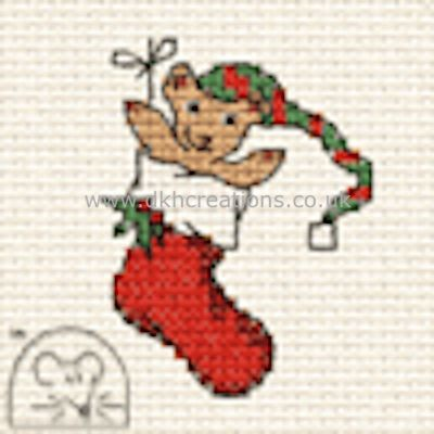 Teddy In Stocking Cross Stitch Kit