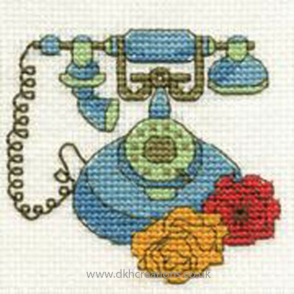 Telephone Mini Cross Stitch Kit