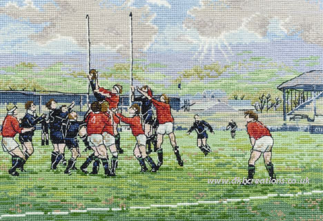 The Line Out Cross Stitch Kit