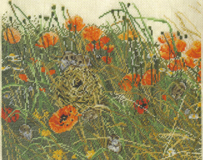 The Poppy Field Cross Stitch Kit