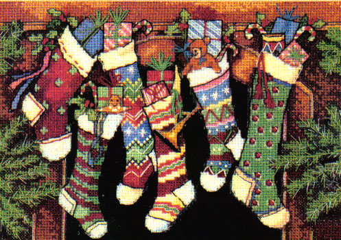 The Stockings Were Hung .... Cross Stitch Kit
