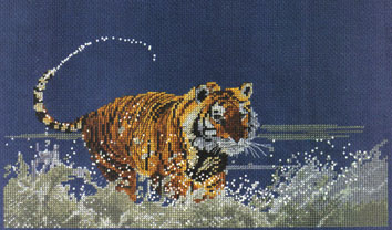 Tiger River Cross Stitch Kit