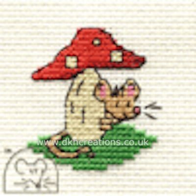 Tiny Toadstool Mouse Cross Stitch Kit
