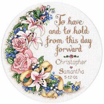 To Have and To Hold Wedding Record Cross Stitch Kit