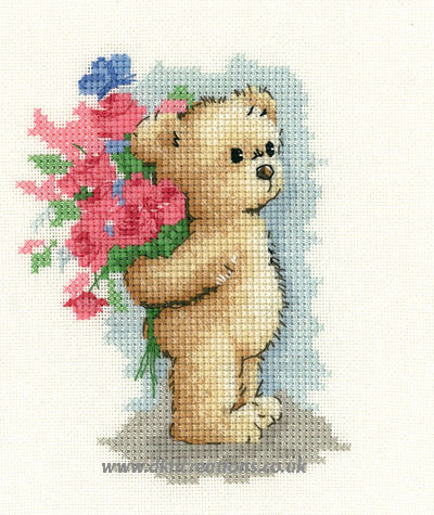 Toffee With Flowers Cross Stitch Kit