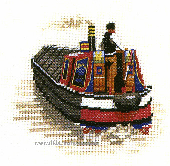 Traditional Narrowboat Canal Cross Stitch Kit