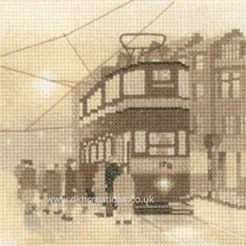 Tram Stop Cross Stitch Kit